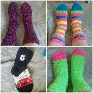 5 pairs of soft fuzzy winter socks